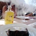 Tagliata de ternera con humo de tomillo y láminas de parmesano