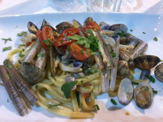 Pasta con mariscos de Locanda 'Ntretella