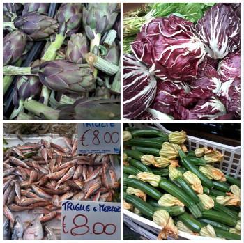 Paradas del mercado de Pignasecca